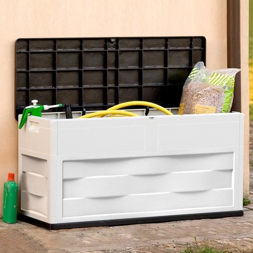 Záhradný úložný box Ambition šedo-čierny