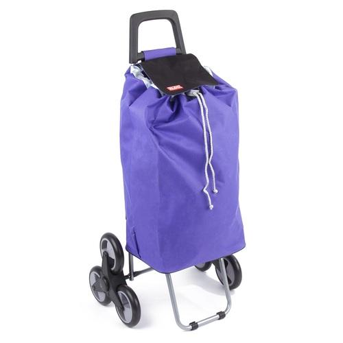 Nákupná taška na kolieskách MADRID fialová