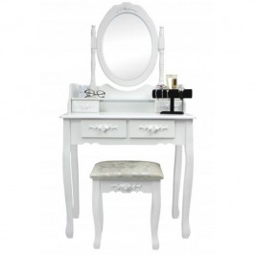 ALDO Toaletný kozmetický stolík Emilie 143x70x40cm s taburetom