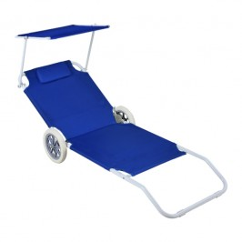 ALDO Plážový vozík - ležadlo so strieškou